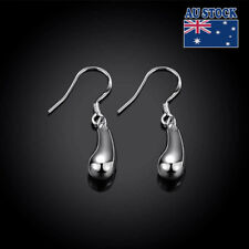 GLE02 Stunning 925 Sterling Silver Filled Solid Teardrop Drop Earrings Wholesale