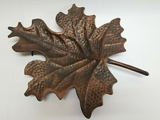 """Garden Art Brown Metal Maple Leaf Shaped 19"""" Table Home Decor Tray Rustic Cabin"""