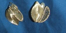 Lovely clip-on earrings silver tone German filigree metal, in top condition
