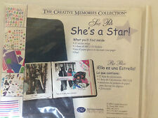 CREATIVE MEMORIES SHE'S A STAR SNAP PACK ALBUM KIT PAPER  STICKERS NEW