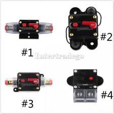 50A-300 Amp Manual Reset Circuit Breaker 12v/24v Car Auto Boat Audio Fuse Holder