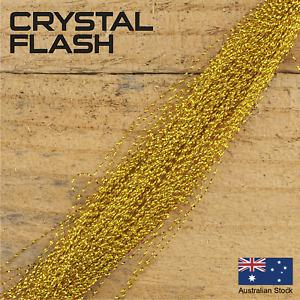 Gold Crystal Flash - Krystal, Fly Tying Materials, Snapper, jig assist