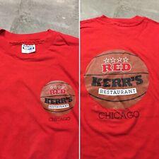 90s VTG JOHNNY RED KERR'S RESTAURANT Chicago Bulls Jordan T Shirt Hanes XL USA