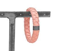 Marc Jacobs Rose Snakeskin Leather Bangle Bracelet