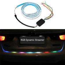 """47"""" RGB LED Car Rear Trunk Strip Reversing Back-up Double Flash Light Tailgate"""