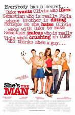 SHE'S THE MAN Movie Promo POSTER Jeffrey Ballard Lynda Boyd Alex Breckenridge