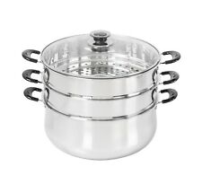 CONCORD Stainless Steel 3 Tier Steamer Steam Pot Cookware. Avail. in 3 Sizes