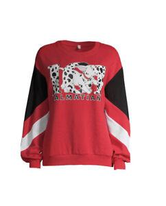Disney 101 Dalmatians Teens Graphic Red Long Sleeve Pullover Sweatshirt