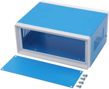 Zulkit Electronic Enclosures Blue Metal Enclosure Project Case Diy Box Junction