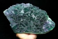 11.9LB New find natural rare green octahedral fluorite Mineral Specimens/China
