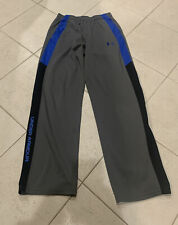 Under Armour Size YOUTH XL Grey Blue Black Athletic Long Pants Pockets