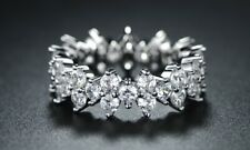 """NEW Barzel Women's Rhodium Plated CZ 0.2"""" Round Band Ring - Silver - Size: 6"""