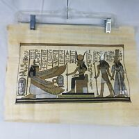 """Egyptian Wall Art Goddess Ma'at Hand Painted Genuine Papyrus Rice Woven 13""""X17"""""""