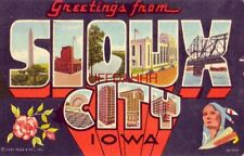 1956 Greetings From Sioux City, Iowa