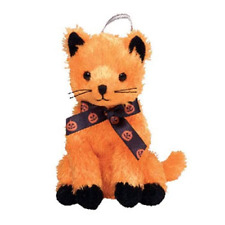 New! Ty Beanie Babies Halloweenie Beanies Scared-e Halloween Cat Plush Ornament