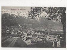 Innsbruck Von Berg Isel Austria 1908 Postcard 888a