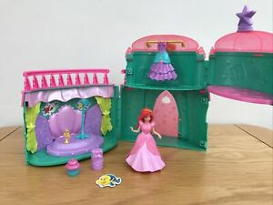 * DISNEY PRINCESS MAGICLIP ARIEL Royal Party Palace Playset Doll & Accessories *