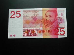 Netherlands 25 Gulden Banknote 1971 / Good Condition