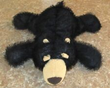 "FIESTA CUTE FLOPPY LYING BLACK BEAR 12"" LONG STUFFED ANIMAL"