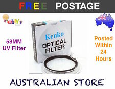 Kenko 58mm UV Digital Filter Lens Protector for any 58mm filter thread lens