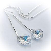 Durchzieher Ohrringe 925 Silber mit SWAROVSKI ELEMENTS  Crystal