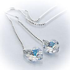 Durchzieher Ohrringe 925 Silber mit Swarovski Crystal