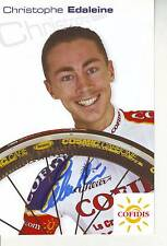 CYCLISME carte cycliste CHRISTOPHE EDALEINE équipe COFIDIS 2005 signée