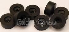 19mm Dia BLACK Rubber screw-on buffer  Pack of 8