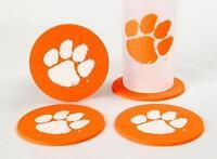 CLEMSON UNIVERSITY Tiger Cub Coaster Set 4 Football NCAA Licensed Sports