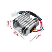 Universal 12V 4 Kabel Spannung Regler Gleichrichter Für Motorrad Quad Scooter
