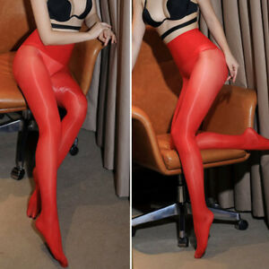 Super Elastic Women High Waist Pantyhose Seamless Glossy Tights Nylon Stockings