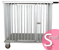 AEOLUS Pro 1-Berth Aluminium Dog Show Trolley - Small (Pink)