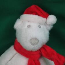 BATH AND BODY WORKS CHRISTMAS SANTA WHITE POLAR BEAR RED SCARF PLUSH STUFFED TOY