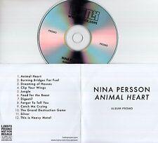 NINA PERSSON Animal Heart 2014 UK 12-trk promo test CD