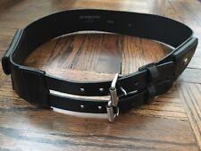 AUTHENTIC NWOT Burberry Women's Black Leather Belt - Size 0