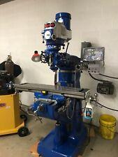Bridgeport 9x48 Inch 2 Hp Vertical Milling Machine Dro Tooling