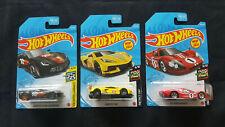 2021 Hot Wheels Corvette C8.R Corvette C7 Z06 '67 Ford GT40 MK. IV lot of 3