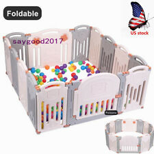 Baby Folding playpen Activity Centre Safety Play Yard Home Indoor Outdoor fence