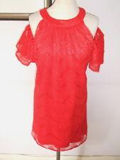 BNWT LITTLE MISTRESS RED LACE BARE SHOULDERS DRESS - Size 14