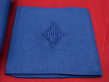 3 serviettes damassées teints lavande  MJ /3 old dyed damask napkins  MJ
