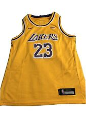 Los Angeles Lakers Lebron James Boys Youth XL Jersey AUTHENTIC