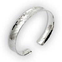 Breiter Damen Armreif gehämmert - 925 Sterling Silber - Armspange offen gewölbt