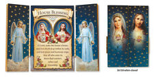 House Blessing - Wood Wooden Plaque Triptych Religious Holy Gift