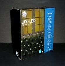 "GE StayBright 100 LED Net-Style Christmas Lights 5-ft x 4-ft Warm White  ""1 BOX"""