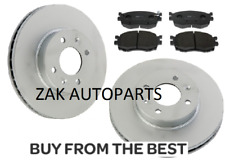 FOR KIA RIO 1.4 1.5 CRDi 1.6 SPORT (2005-2012) FRONT 2 BRAKE DISCS AND PADS NEW