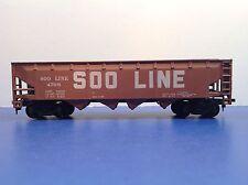 """HO Scale """"SOO Line"""" 4708 4-bay Open Hopper Freight Train Car"""