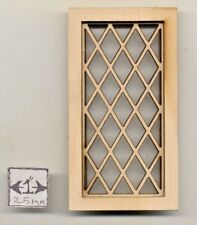 Window - Tudor Diamond Style - 2114 wood dollhouse miniature 1:12 scale USA made