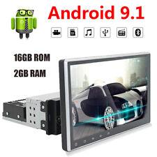 Single 1Din 9inch Android 9.1 Quad Core Car Radio In Dash Stereo Gps Obdii