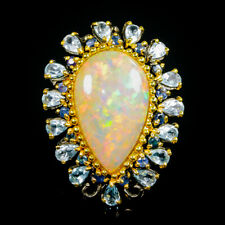 Super Top AAA 14ct+ Natural Opal 925 Sterling Silver Ring Size 8.5/R99588