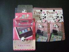 New 1 Set of 4 Cute Panda Dust Proof phone plug Cover Charm (3.5mm)